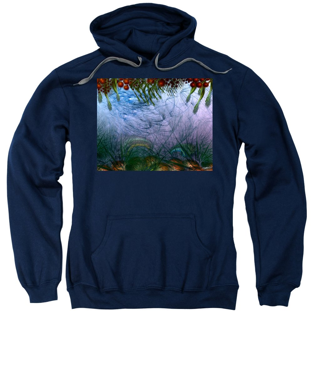 Abstract Sweatshirt featuring the digital art Incursion Into The Inversion by Casey Kotas