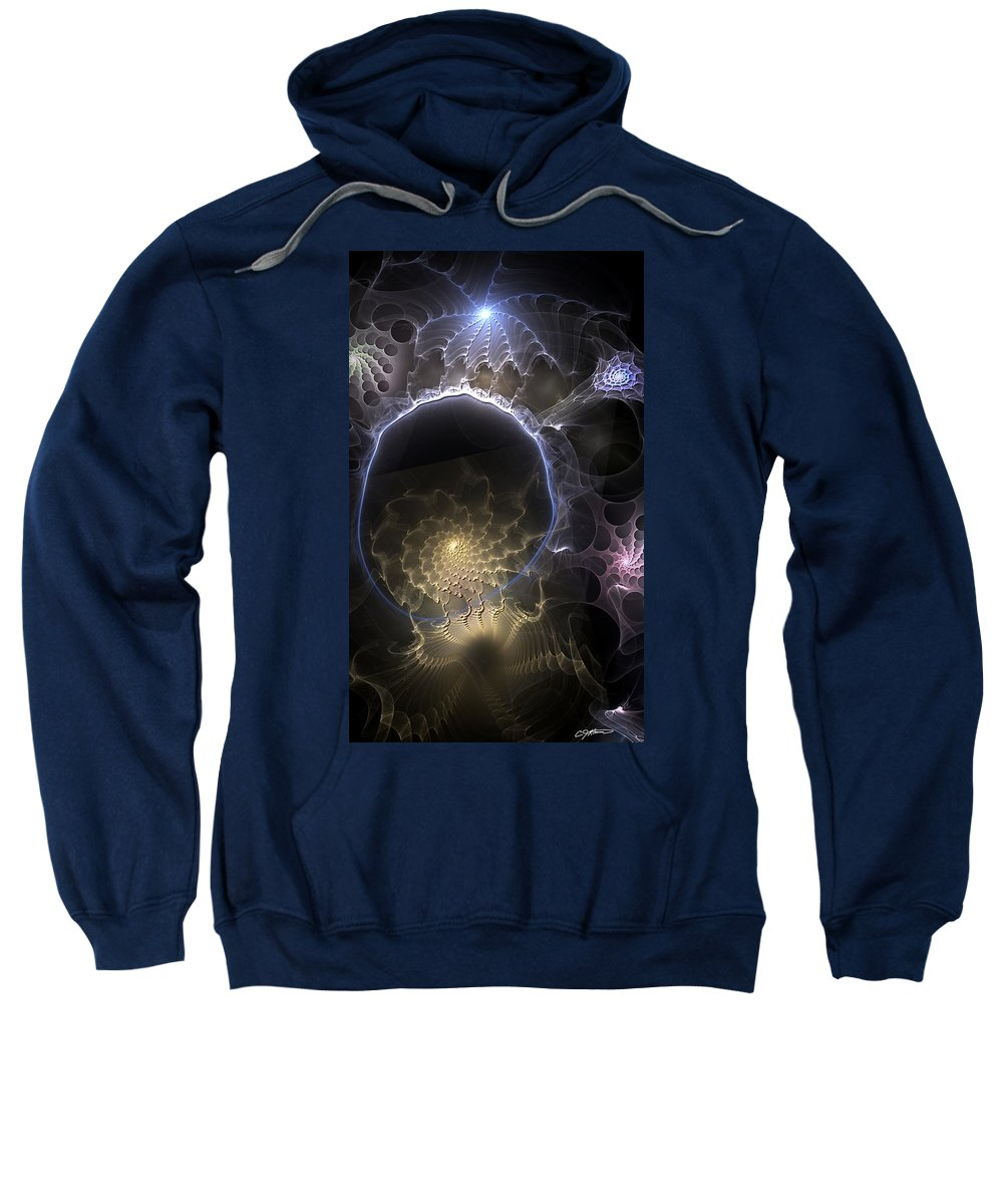 Abstract Sweatshirt featuring the digital art Indefinable Expressions by Casey Kotas