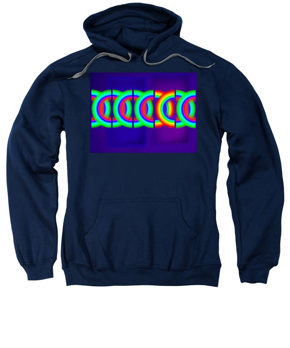 Abstract Sweatshirt featuring the painting Indigo Violet by Charles Stuart