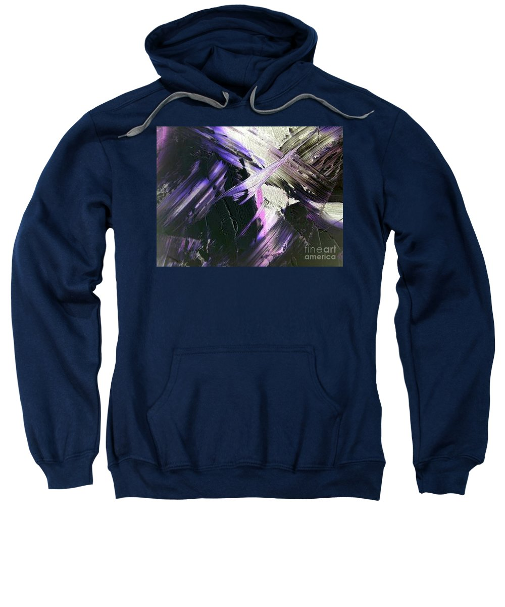 Interlude Sweatshirt featuring the painting Interlude by Dawn Hough Sebaugh