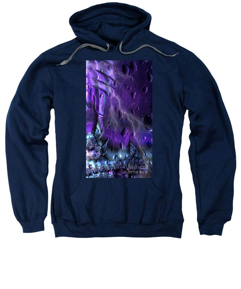 Storm Sweatshirt featuring the digital art Into The Storm by JD Poplin