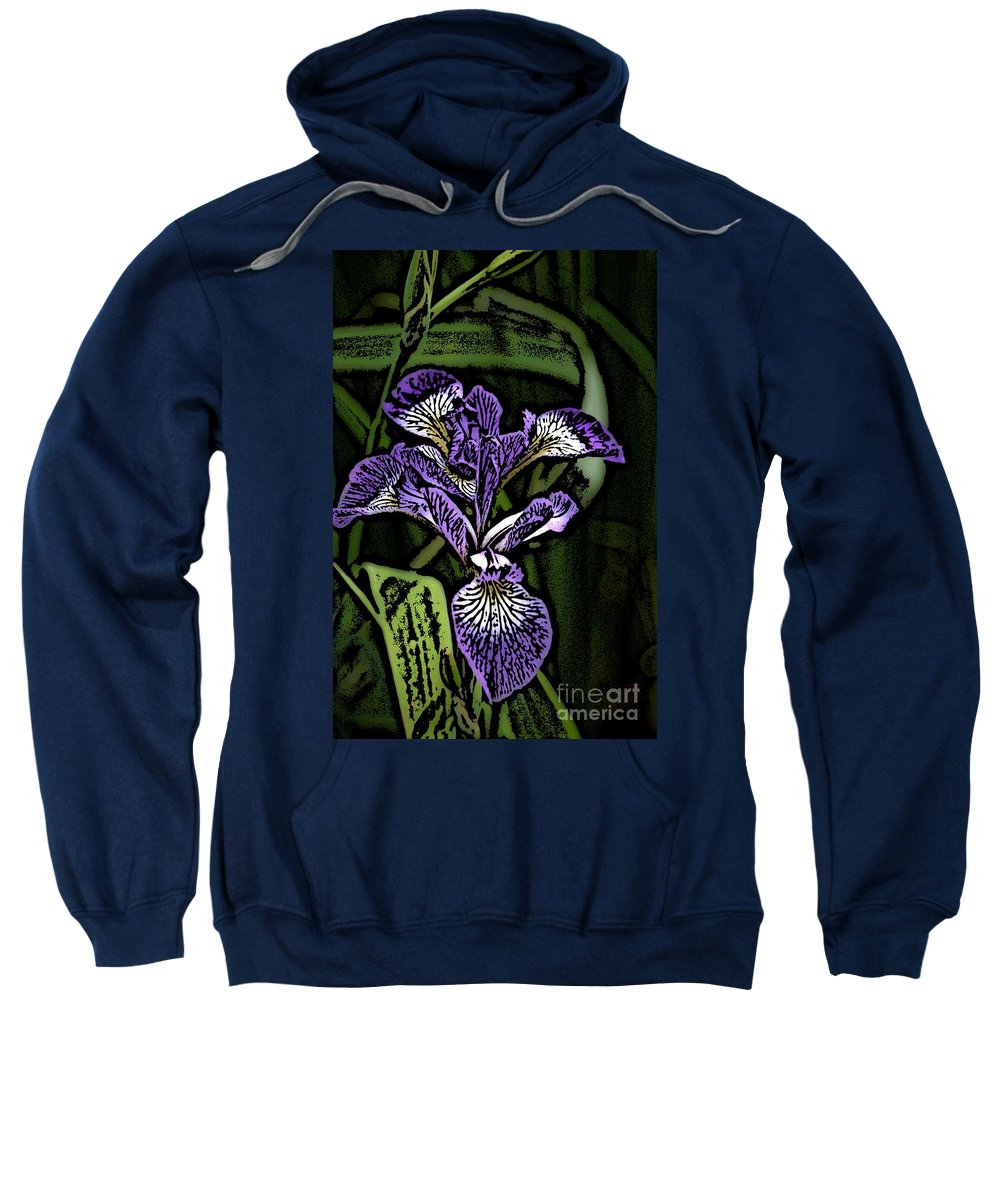 Digital Photograph Sweatshirt featuring the photograph Iris by David Lane