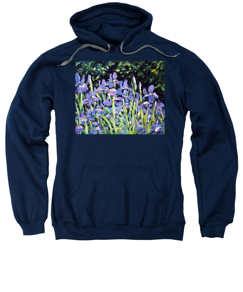 Art Sweatshirt featuring the painting Iris En Folie by Richard T Pranke
