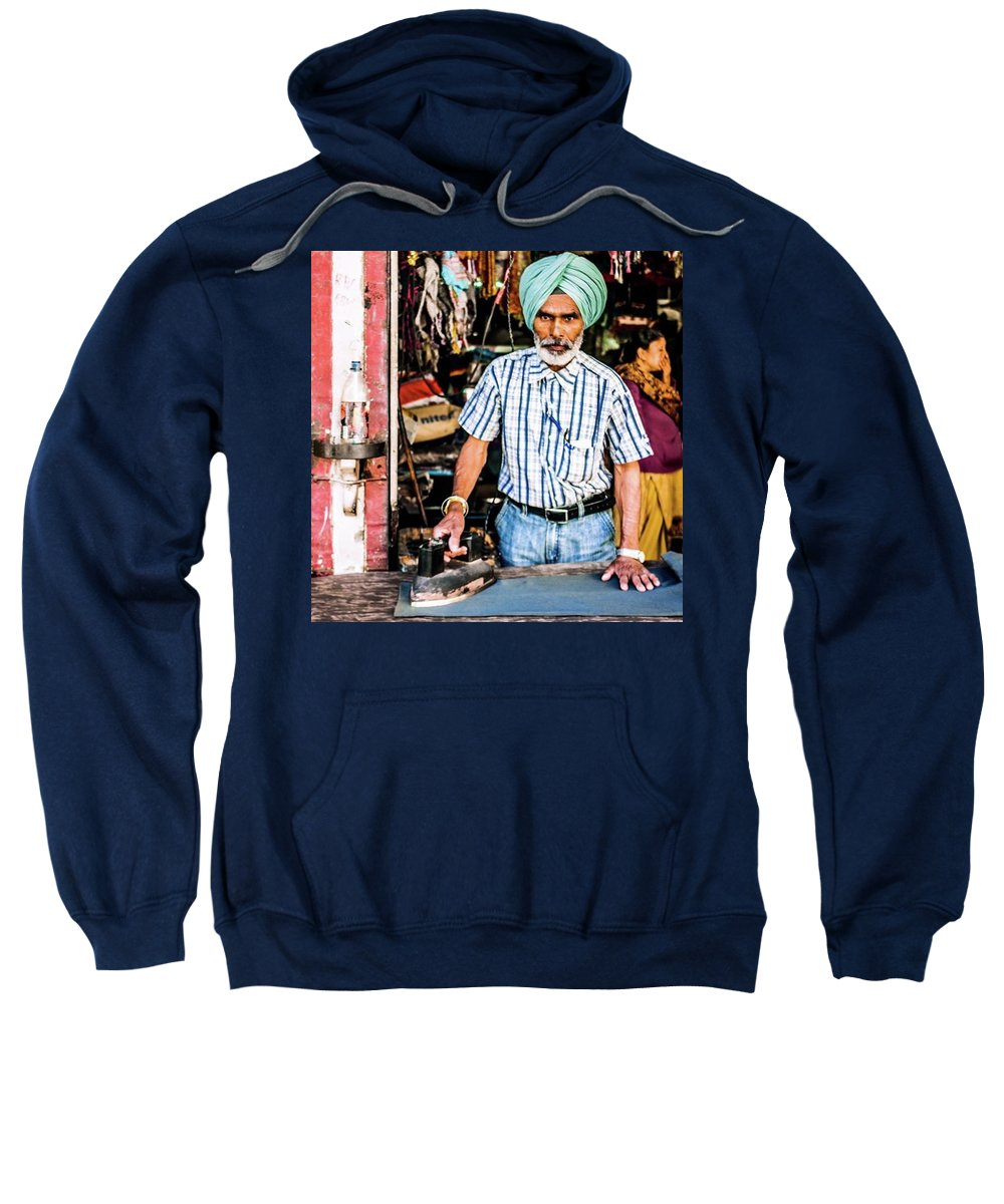 Northernindia Sweatshirt featuring the photograph Ironman! ; ) Street Photography In by Aleck Cartwright