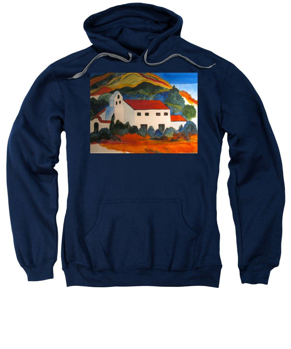 Church Sweatshirt featuring the painting Island Church by Donna Steward