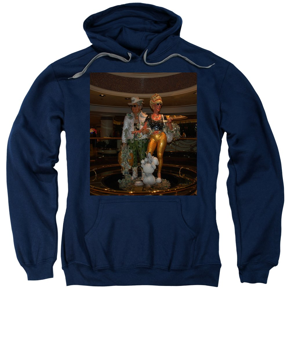 Its Vegas Baby Sweatshirt featuring the photograph Its Vegas Baby by Susanne Van Hulst