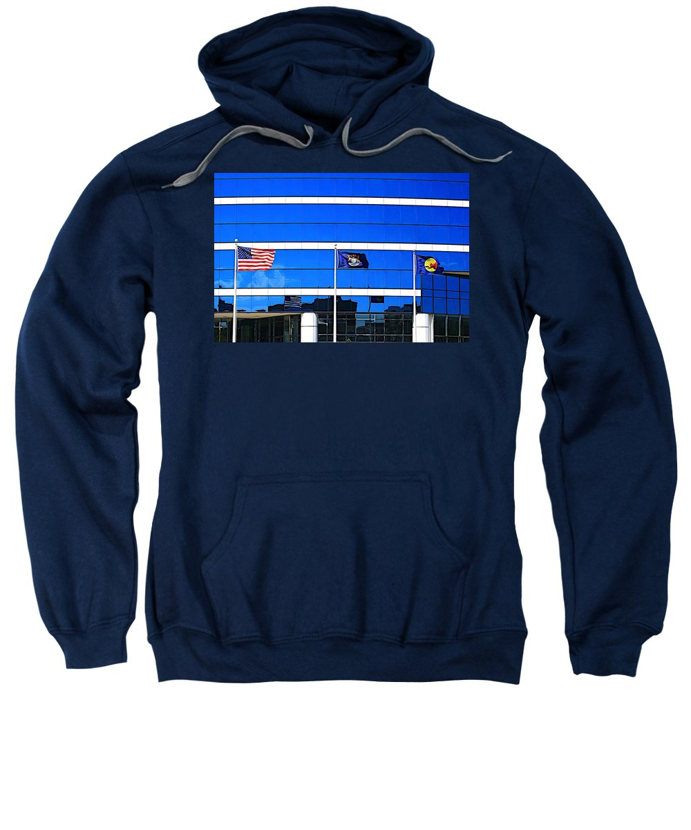 Related Tags: Patriot Artwork Sweatshirt featuring the photograph Its What I Believe In by Robert Pearson
