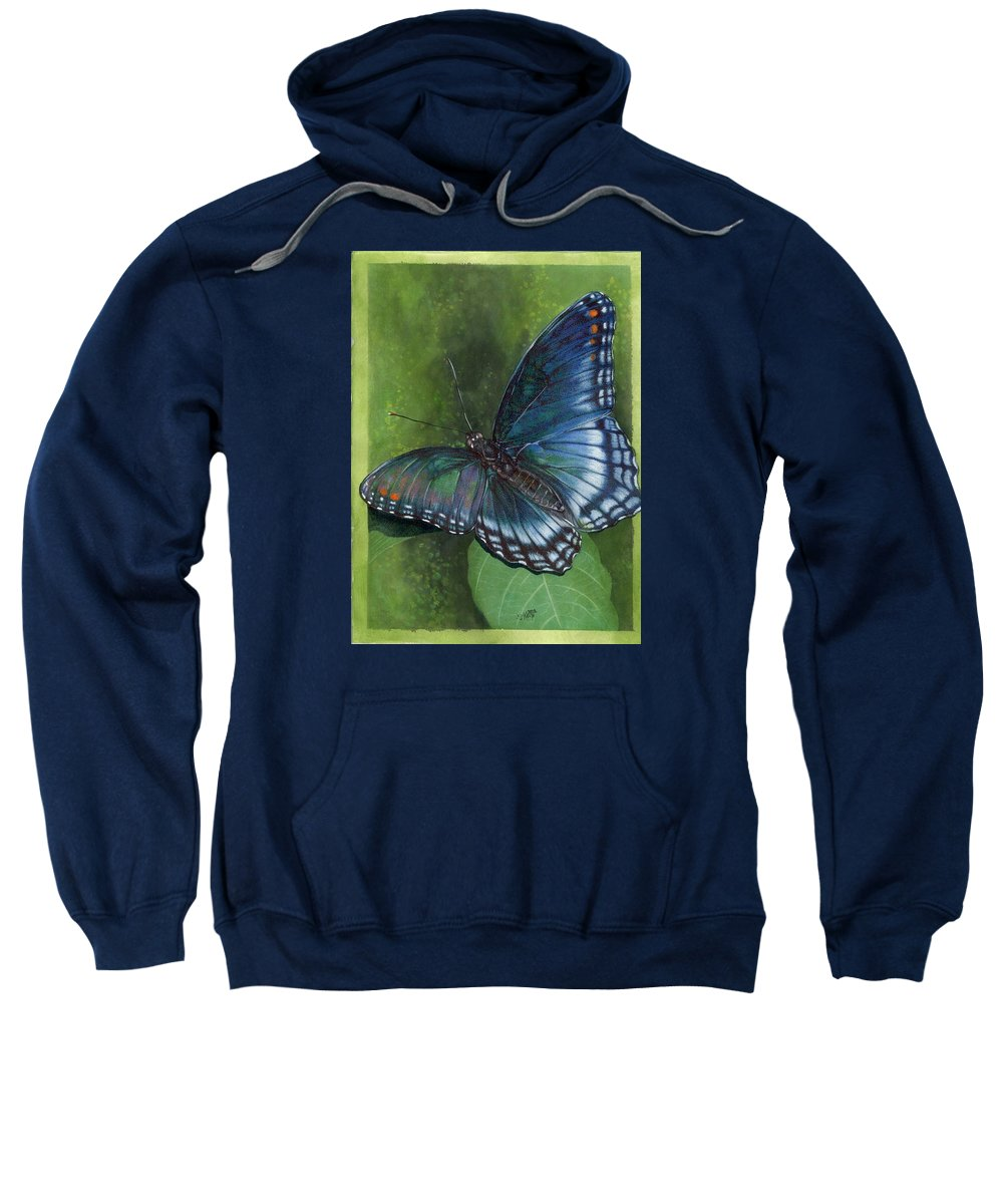 Insects Sweatshirt featuring the mixed media Jewel Tones by Barbara Keith