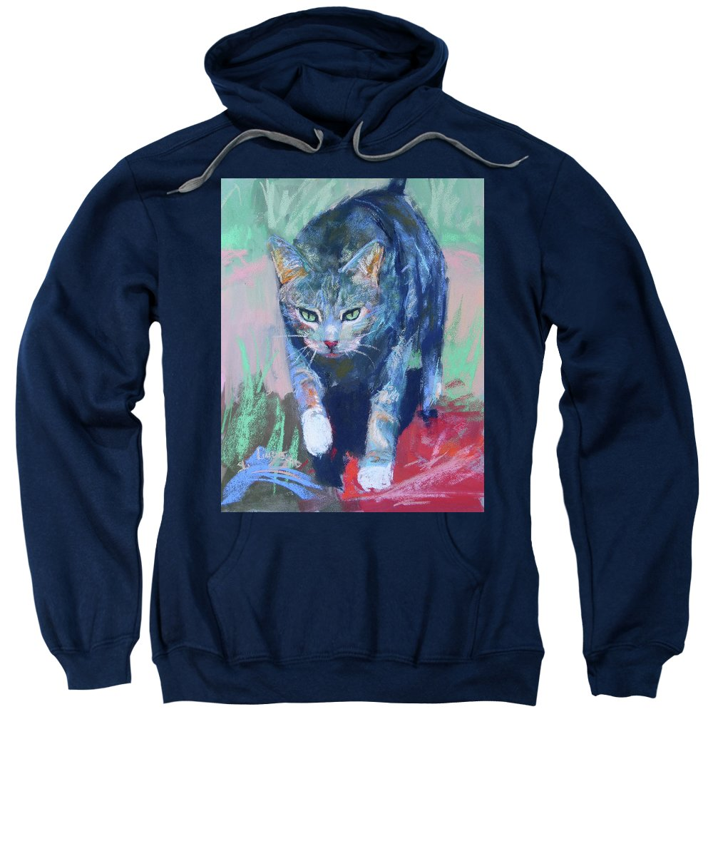 Joey Sweatshirt featuring the painting Joey The Nugget by Sandy Lindblad
