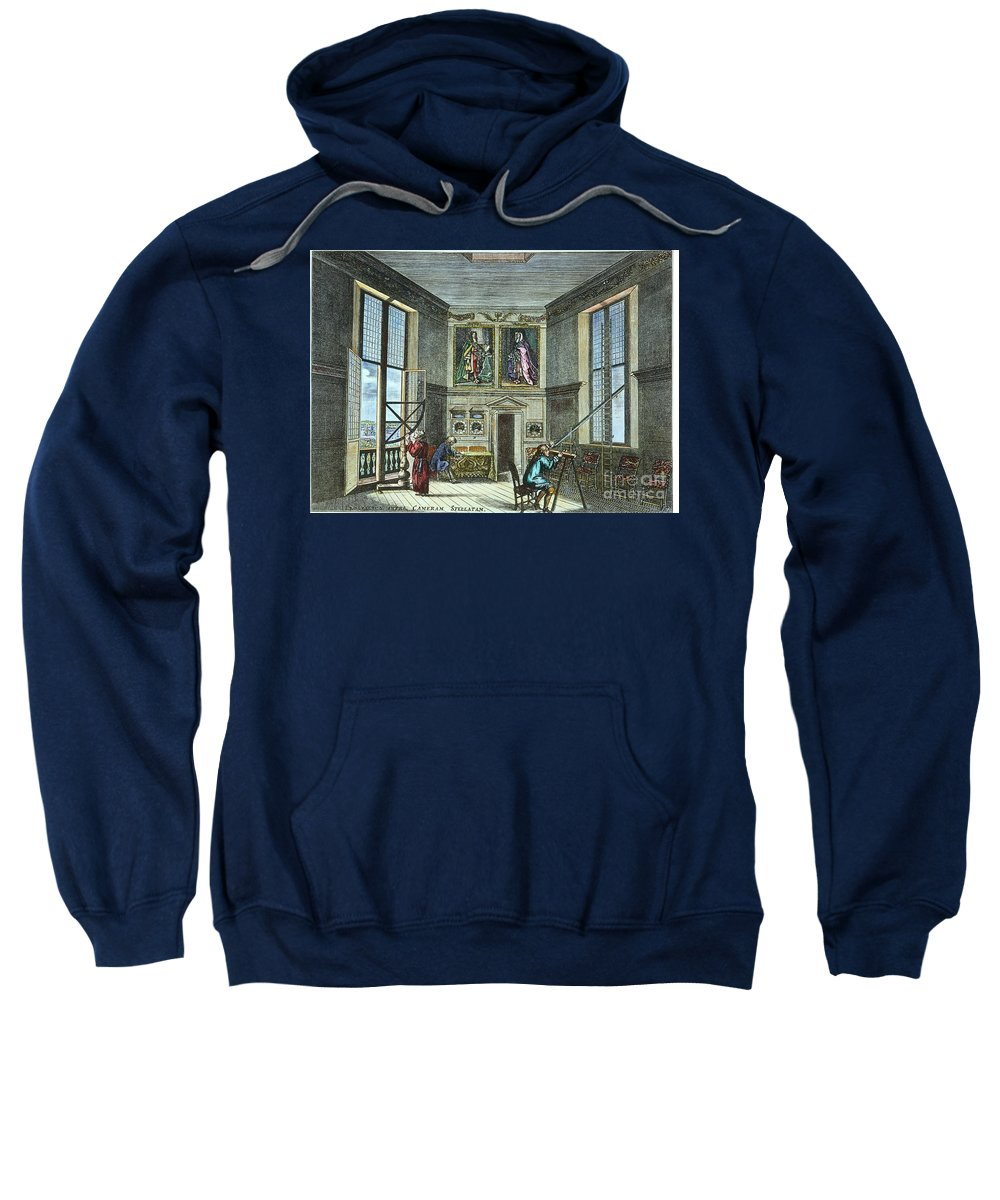 Astronomer Sweatshirt featuring the photograph John Flamsteed, C. 1700 by Granger