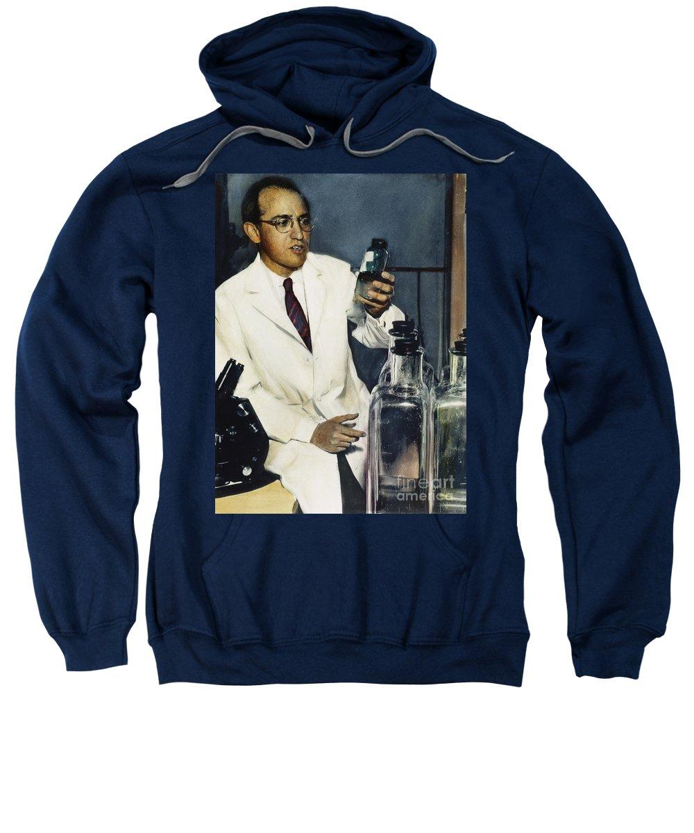 1950s Sweatshirt featuring the photograph Jonas Salk (1914-1995) by Granger