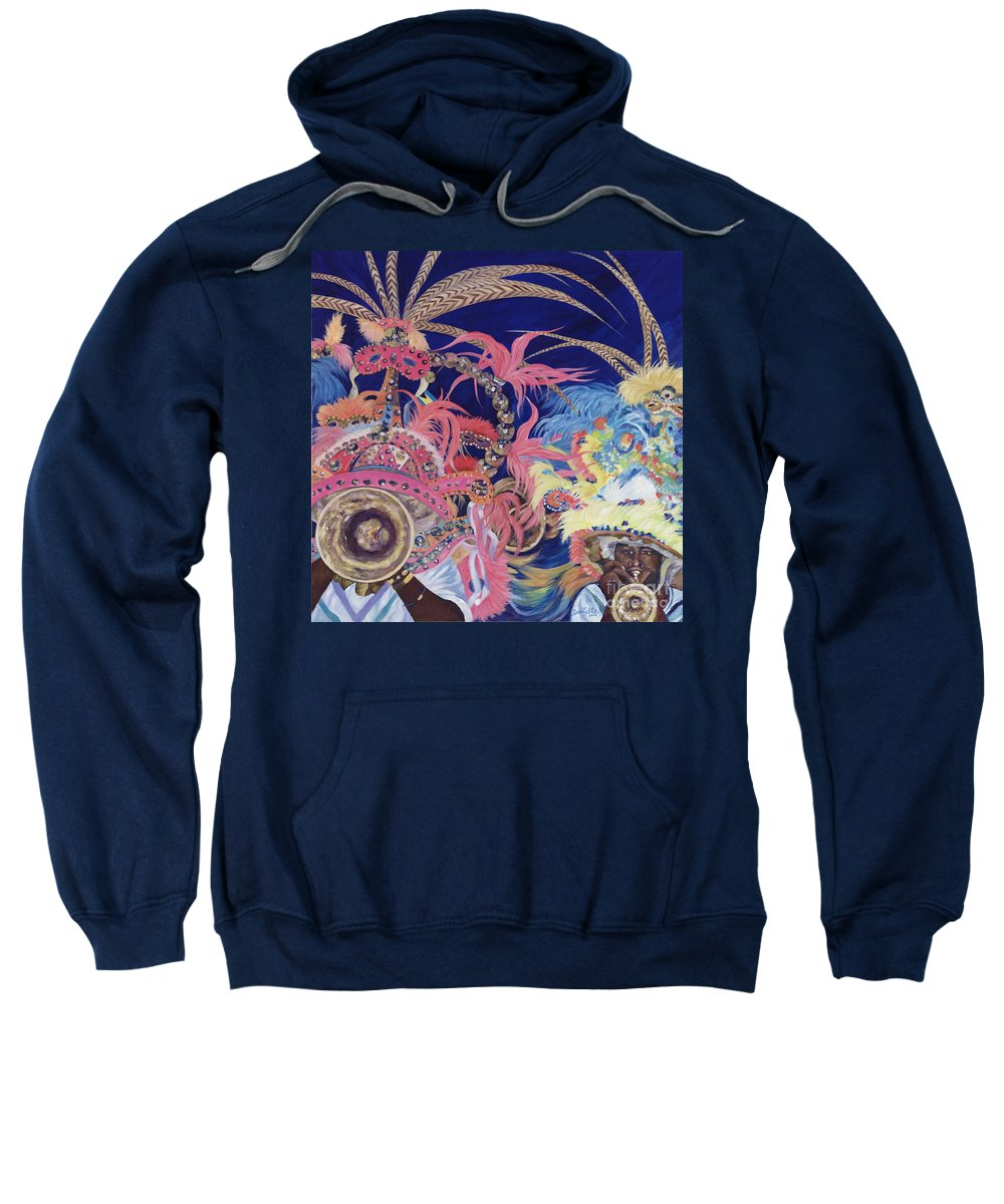 Bahamas Sweatshirt featuring the painting Junkanoo by Danielle Perry