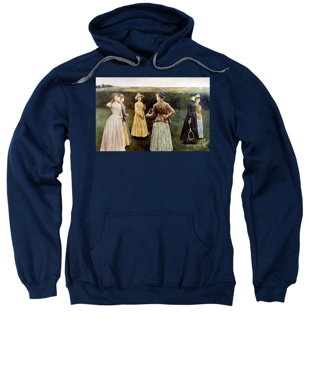 1889 Sweatshirt featuring the photograph Khnopff: Memoires, 1889 by Granger