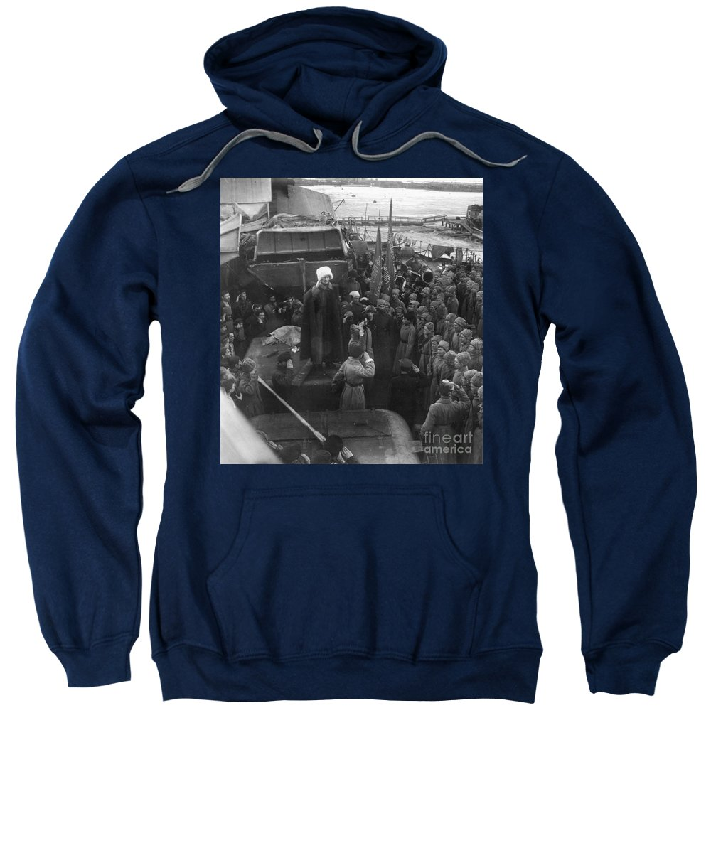 1921 Sweatshirt featuring the photograph Kronstadt Mutiny, 1921 by Granger