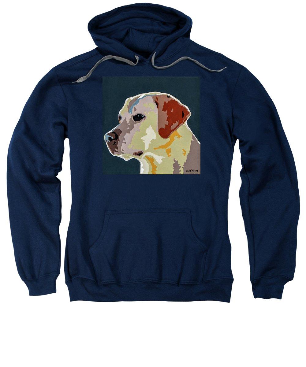 Labrador Sweatshirt featuring the painting Labrador by Slade Roberts