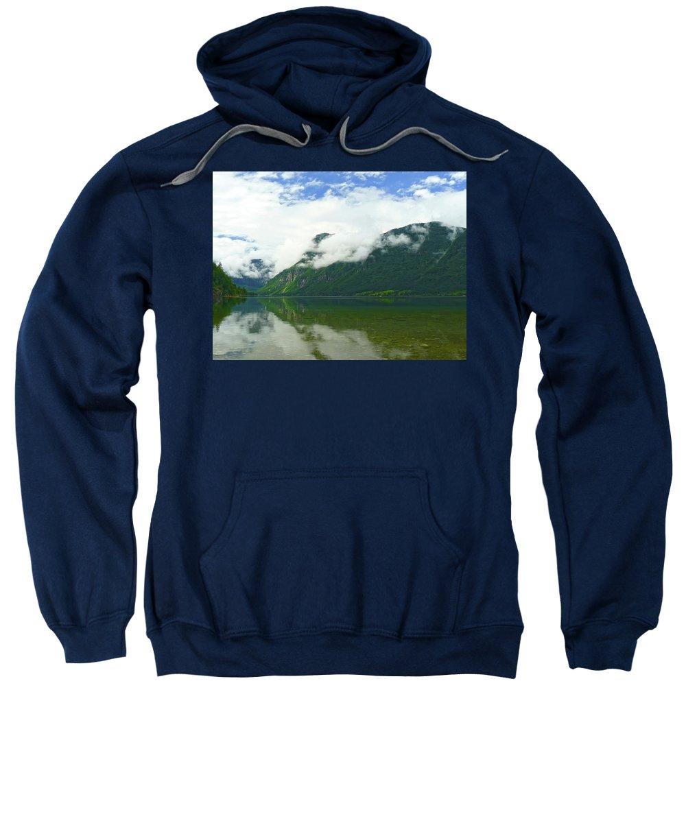 Bohinj Sweatshirt featuring the photograph Lake Bohinj by Daniel Csoka