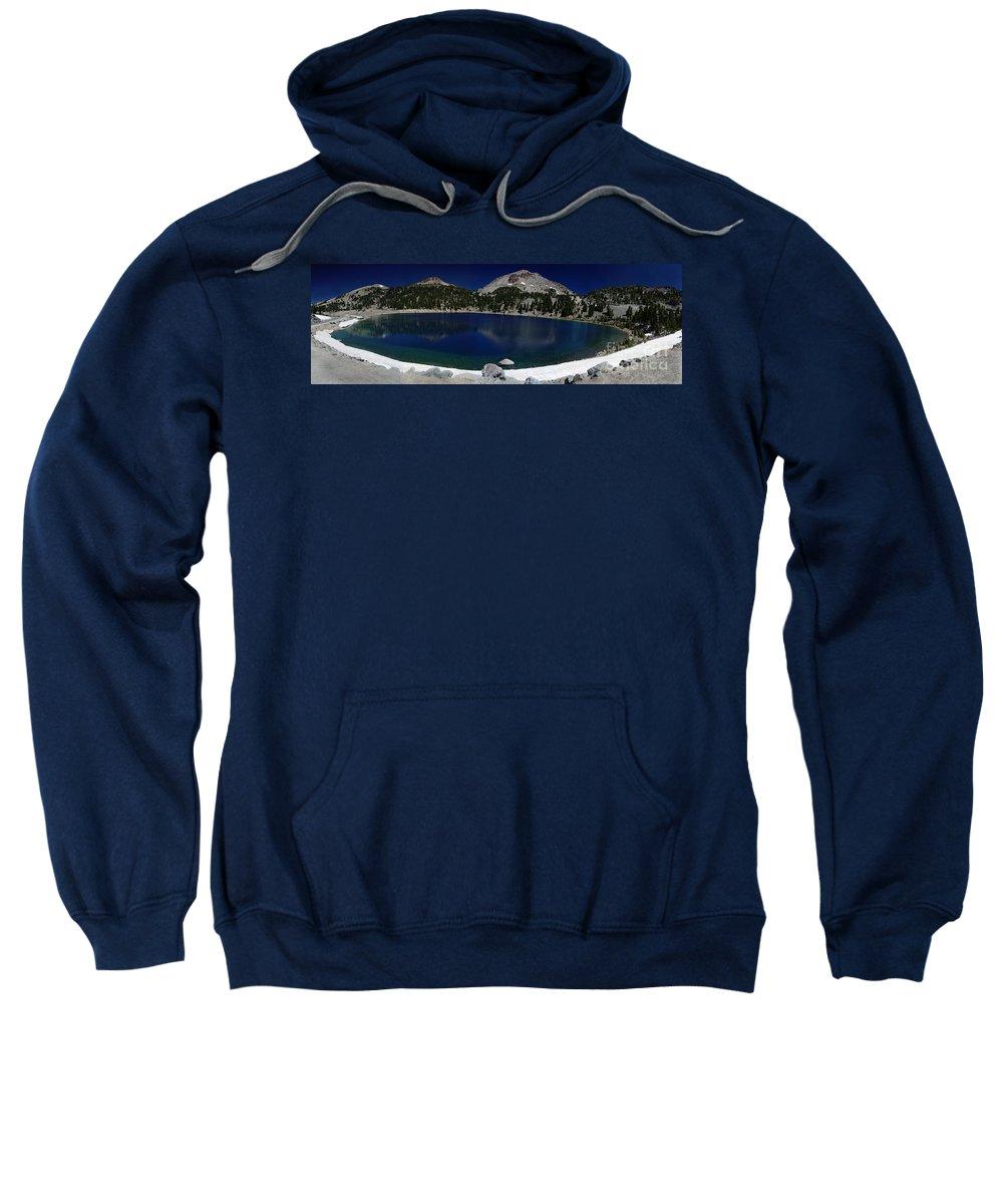 Mirror Sweatshirt featuring the photograph Lake Helen Lassen by Peter Piatt