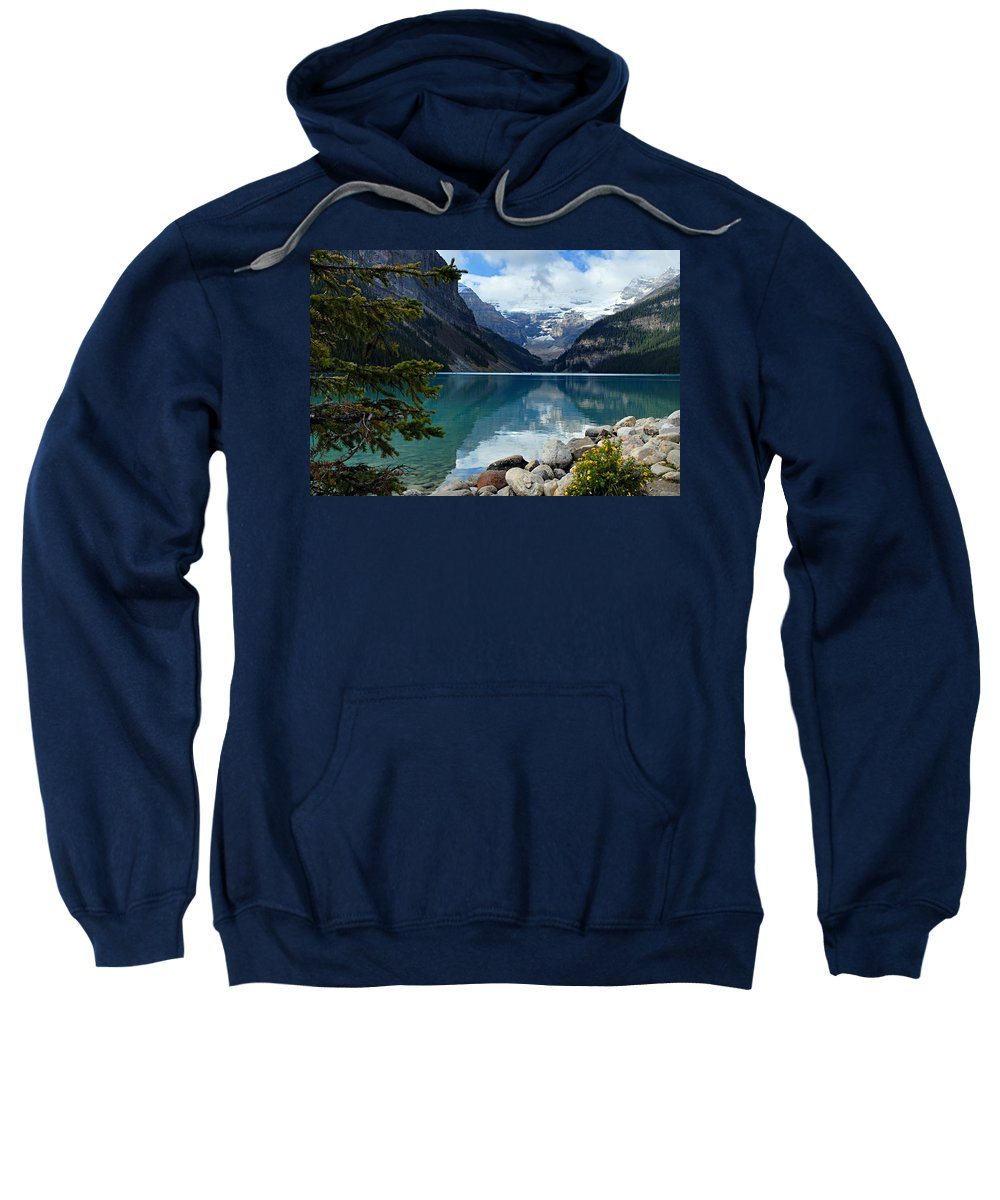 Lake Louise Sweatshirt featuring the photograph Lake Louise 2 by Larry Ricker
