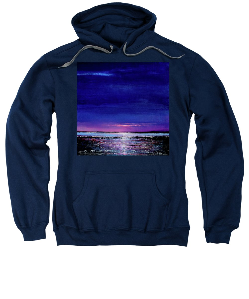 Night Sweatshirt featuring the painting Lake Shimmers by Toni Grote