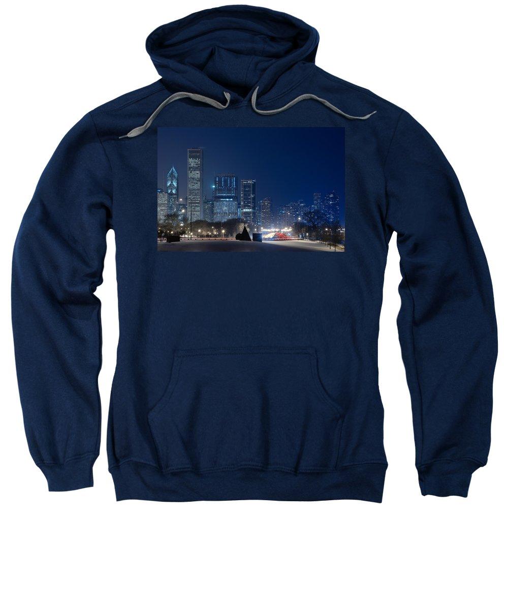 Building Sweatshirt featuring the photograph Lake Shore Drive Chicago by Steve Gadomski