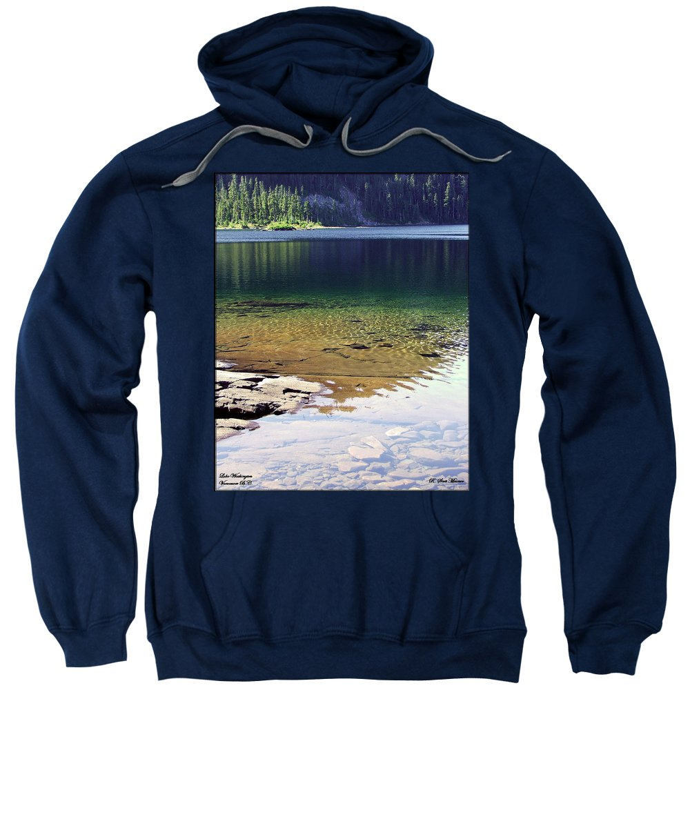 Vancouver B.c. Sweatshirt featuring the photograph Lake Washington by Robert Meanor