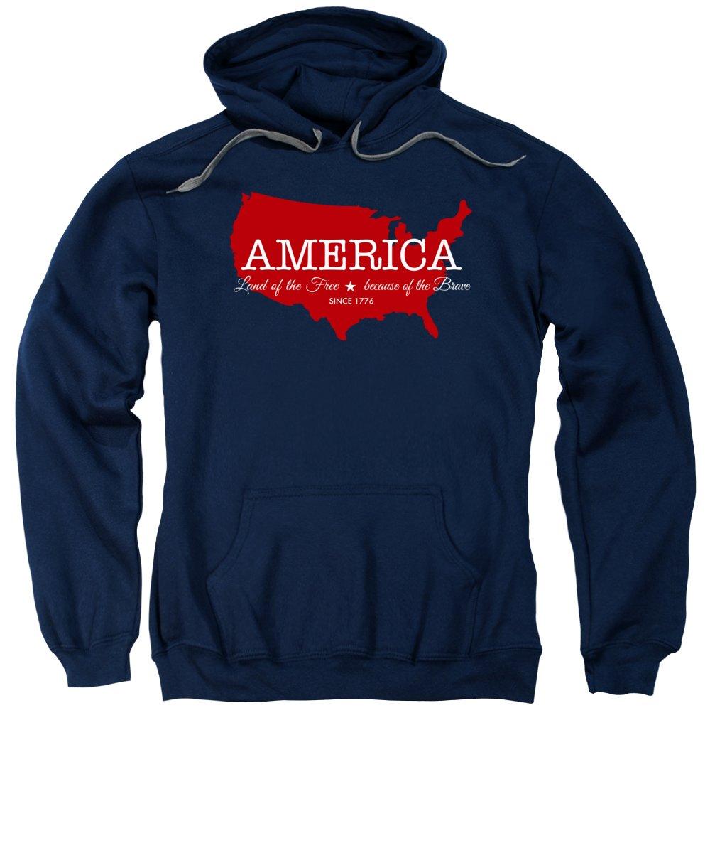 State Map Digital Art Hooded Sweatshirts T-Shirts