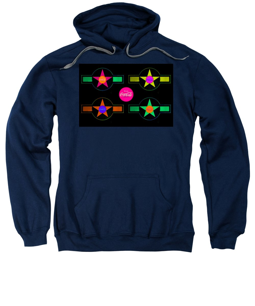 Label Sweatshirt featuring the painting Landscape Candy by Charles Stuart