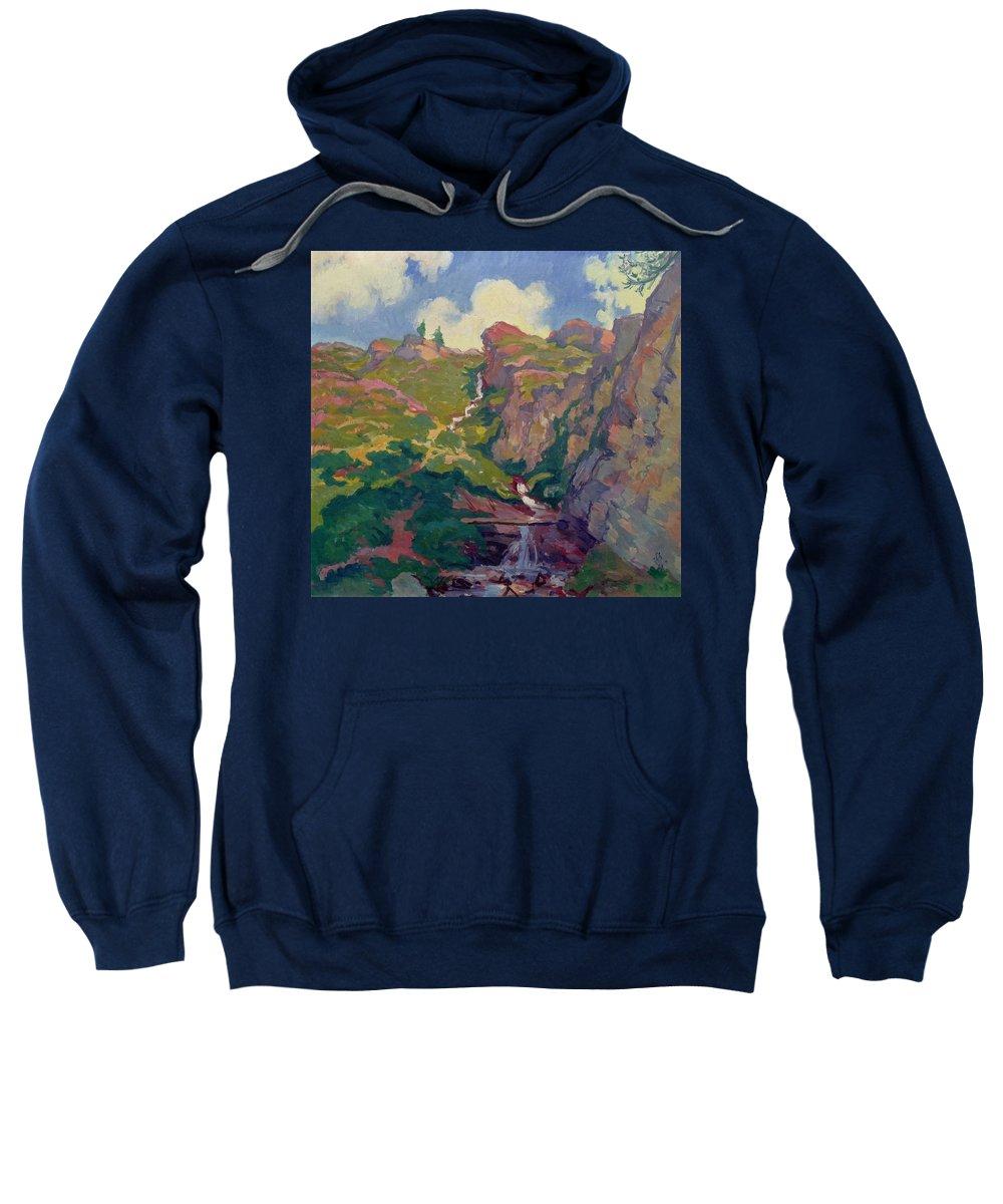 Giovanni Giacometti Bergbach Sweatshirt featuring the painting Landscape by Giovanni Giacometti Bergbach