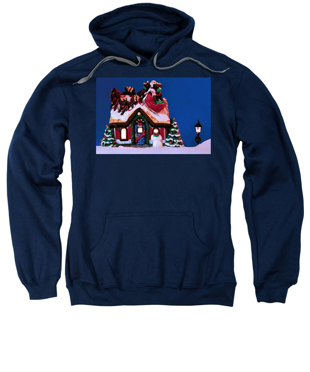 Christmas Sweatshirt featuring the photograph Last Stop For Santa by Kristin Elmquist