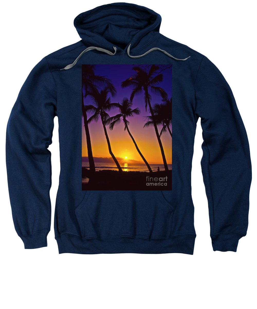 Sunset Sweatshirt featuring the photograph Launiupoko Sunset by Jim Cazel