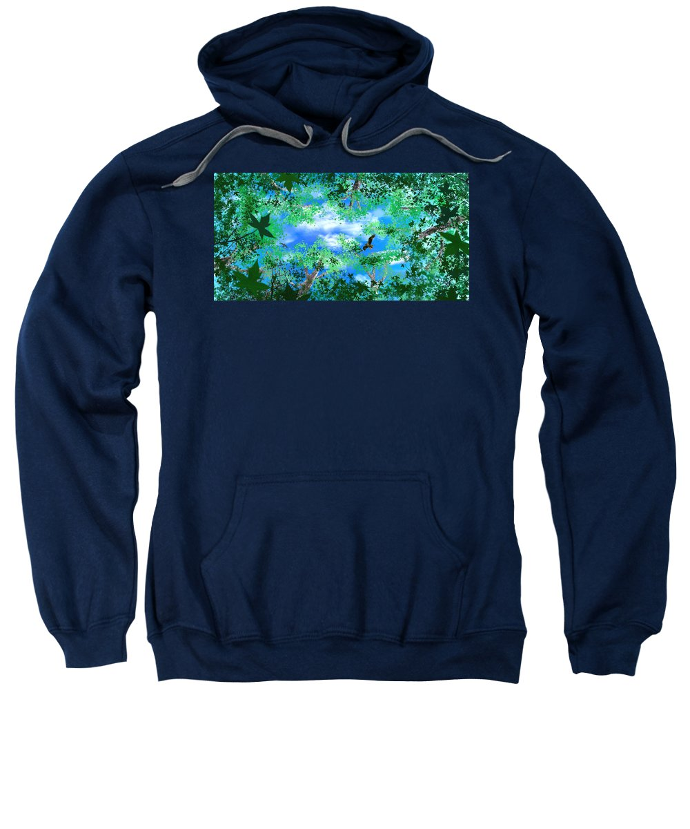Skyscape Sweatshirt featuring the digital art Laying On A Hammock by Steve Karol