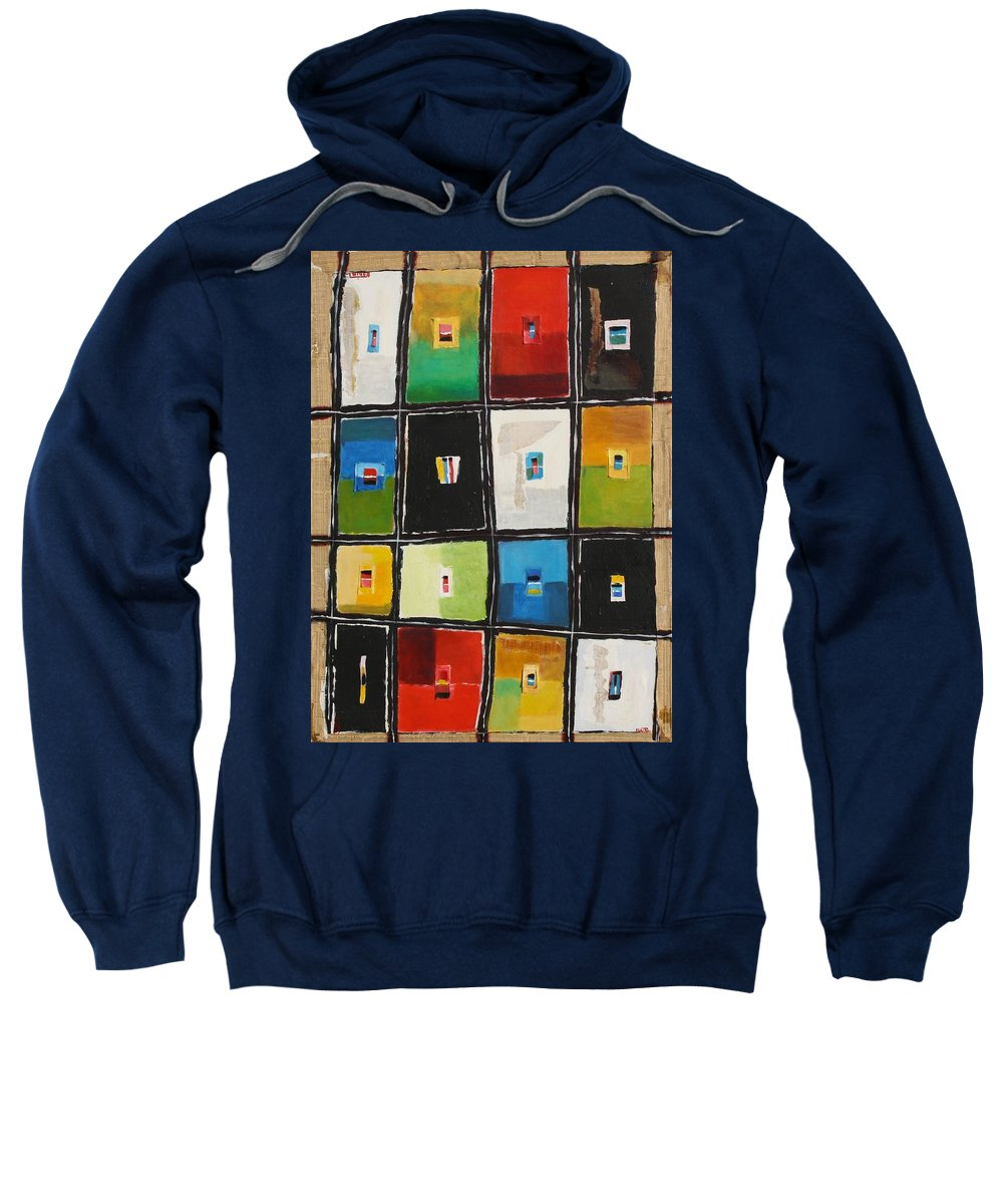 Abstract Sweatshirt featuring the painting Le Language Des Couleurs by Habib Ayat