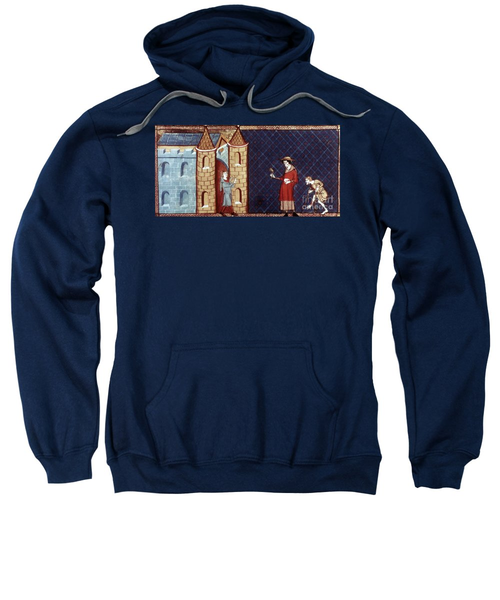 13th Century Sweatshirt featuring the photograph Leper House, C1220-1244 by Granger