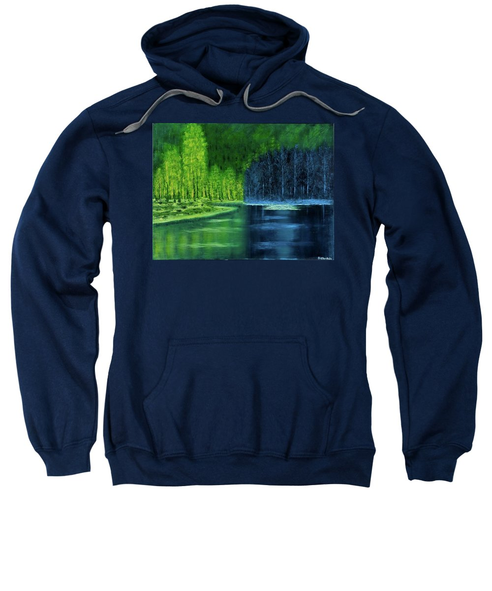 Landscape Sweatshirt featuring the painting Light And Shadow by Nissan Rabin