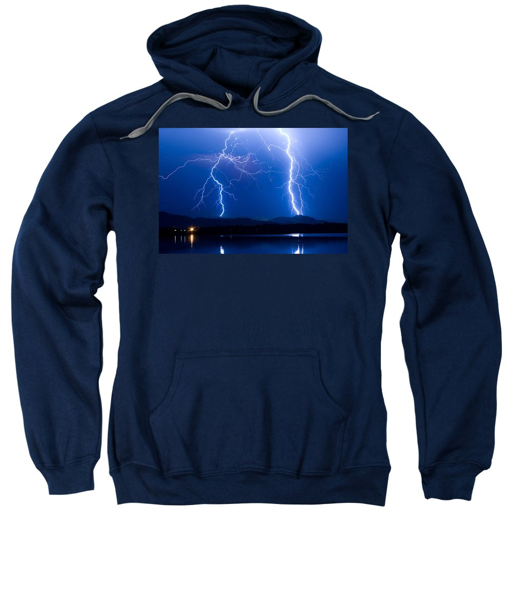 Lightning Sweatshirt featuring the photograph Lightning Storm 08.05.09 by James BO Insogna