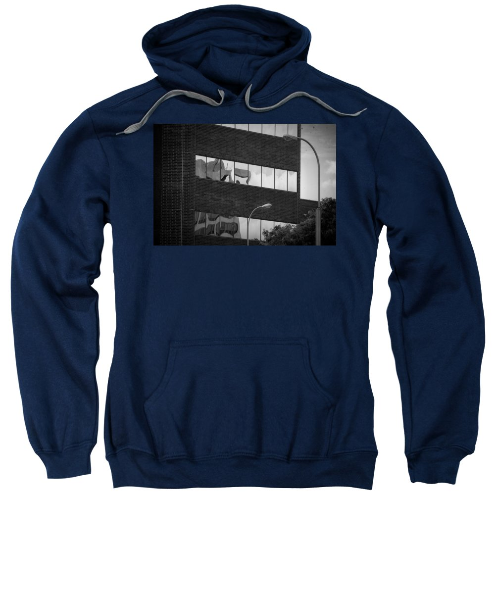 Sioux Falls Sweatshirt featuring the photograph Lights And Glass by Mike Oistad