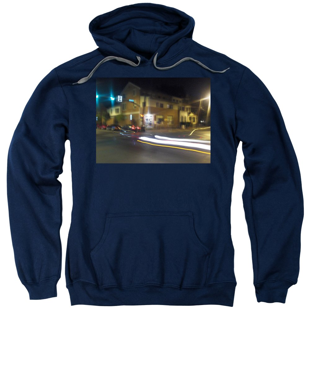 Photograph Sweatshirt featuring the photograph Lights That Race by Thomas Valentine