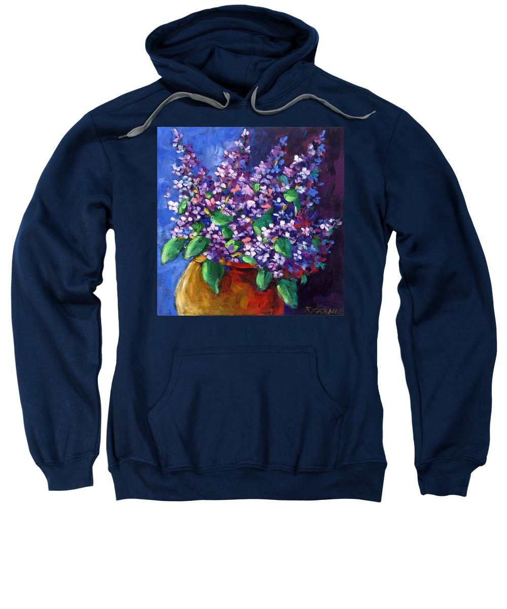 Art Sweatshirt featuring the painting Lilacs by Richard T Pranke
