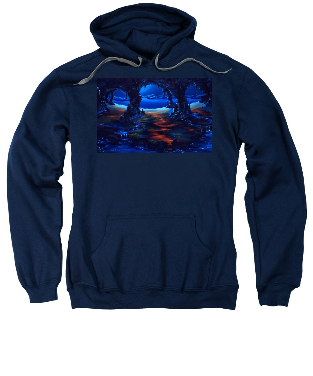 Textured Painting Sweatshirt featuring the painting Living Among Shadows by Jennifer McDuffie