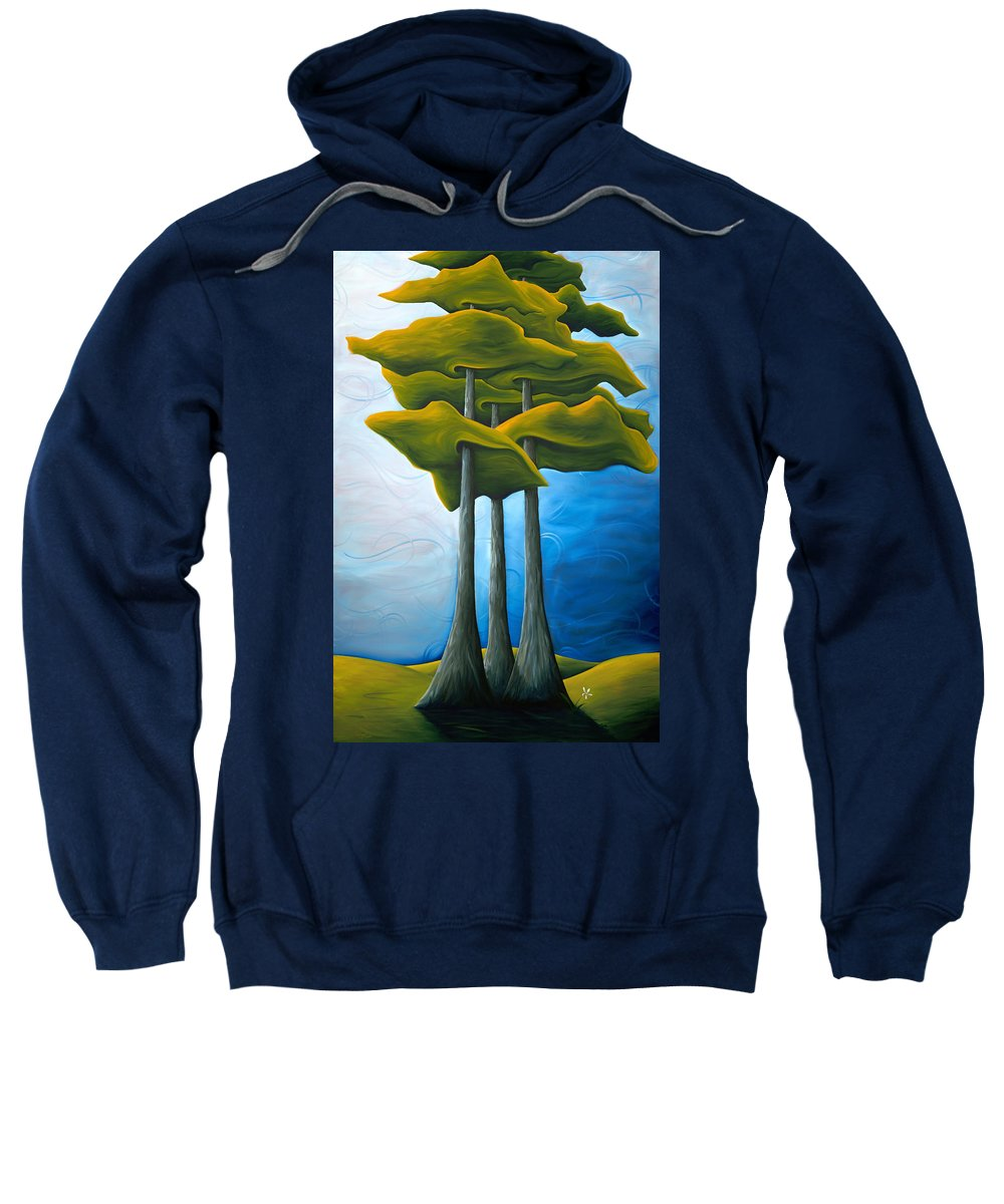 Landscape Sweatshirt featuring the painting Living In The Shadow by Richard Hoedl