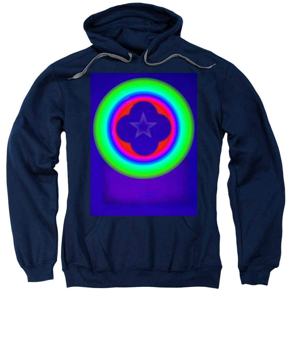 Abstract Sweatshirt featuring the painting Logos by Charles Stuart