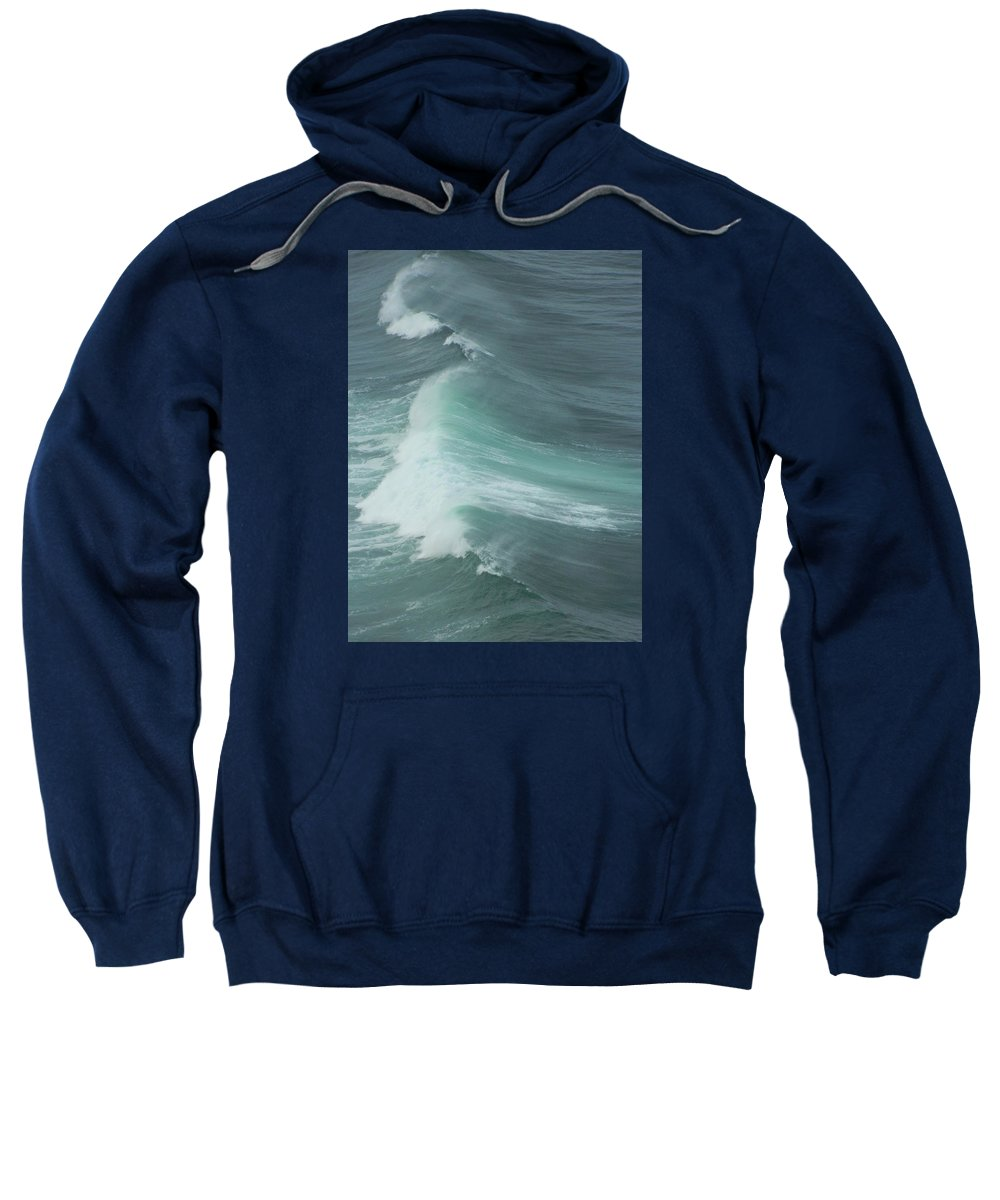 Oregon Sweatshirt featuring the photograph Long Wave by Gallery Of Hope