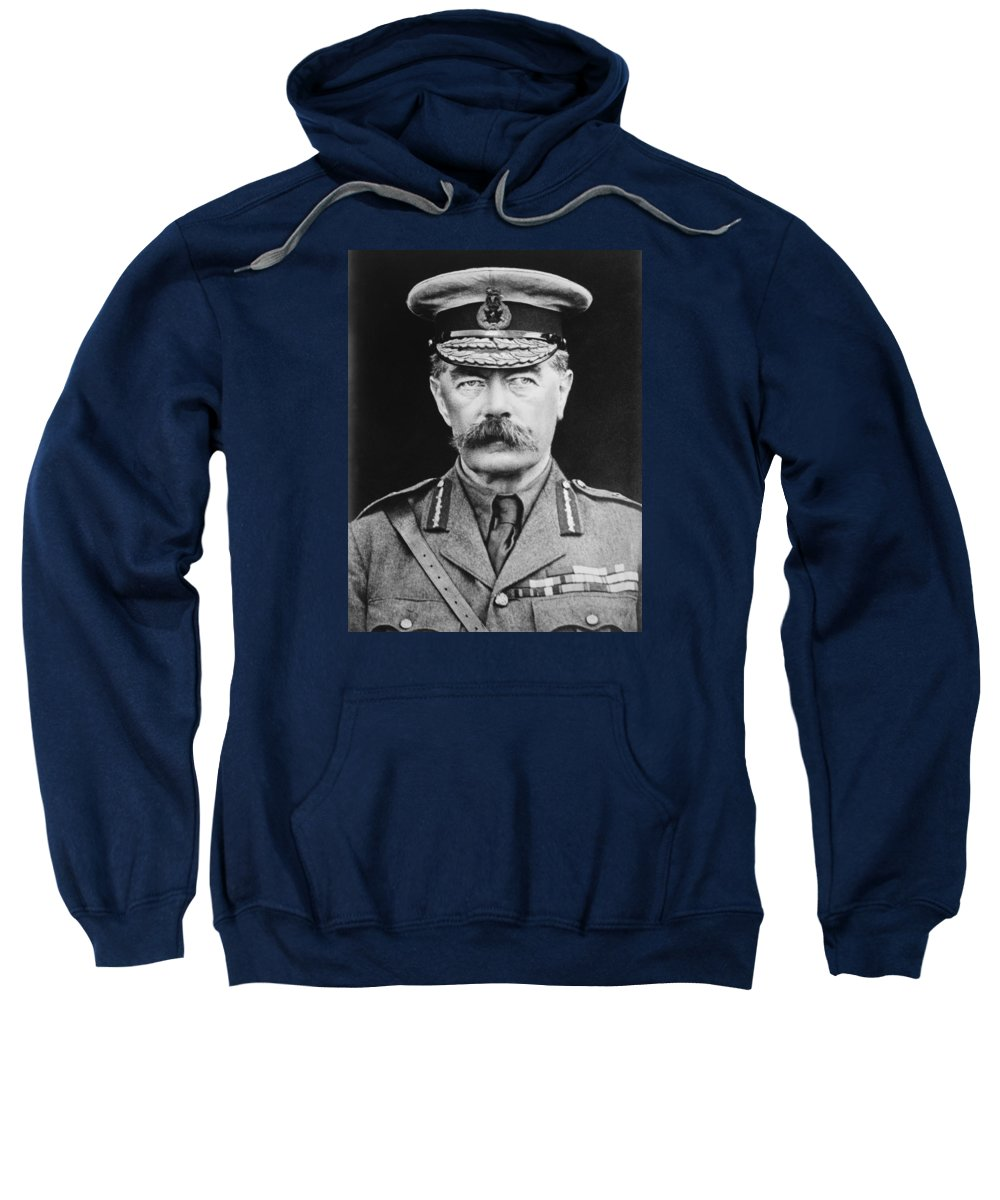 Wwi Sweatshirt featuring the photograph Lord Herbert Kitchener by War Is Hell Store