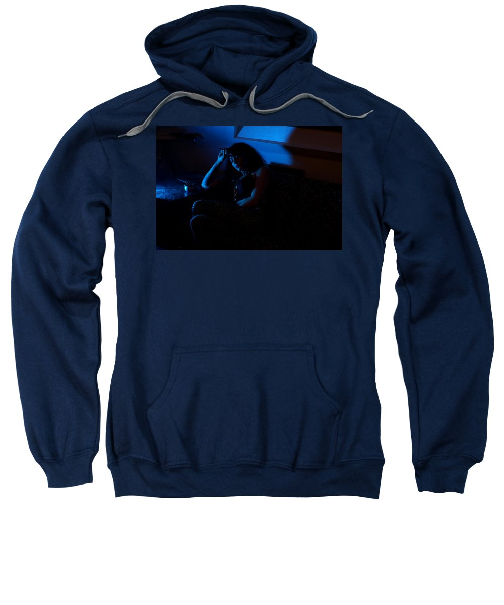 Photograph Sweatshirt featuring the photograph Lori #8 by Kirk Griffith