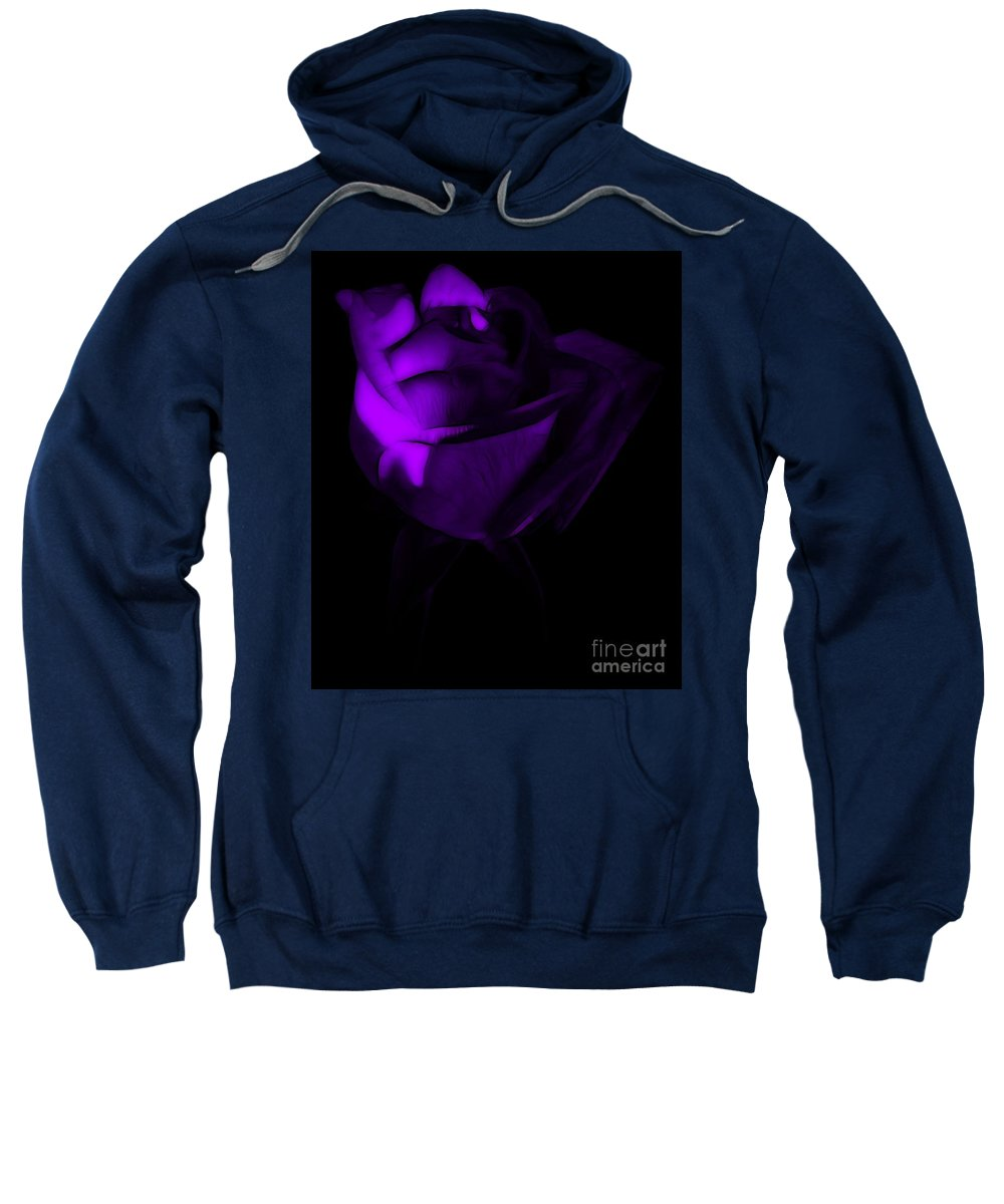 Rose Sweatshirt featuring the photograph Love In The Dark by Krissy Katsimbras