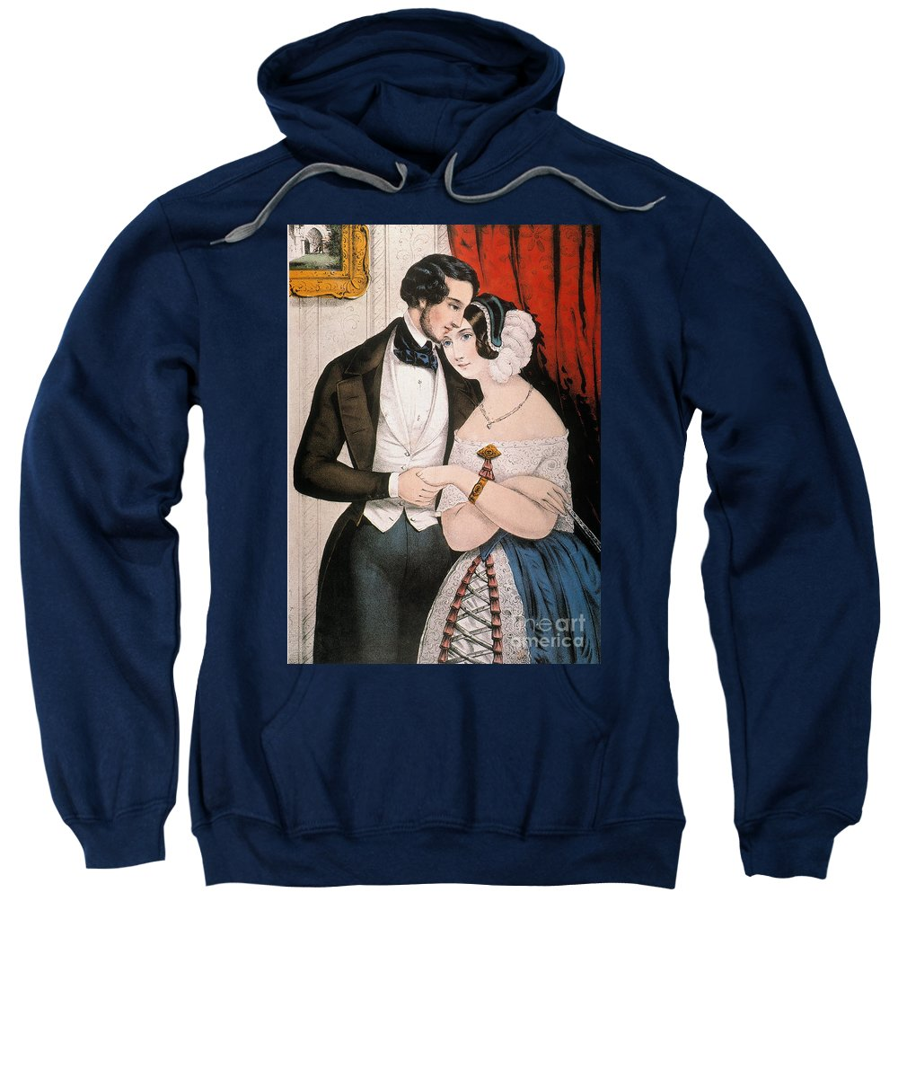 1846 Sweatshirt featuring the photograph Lovers Reconciliation by Granger