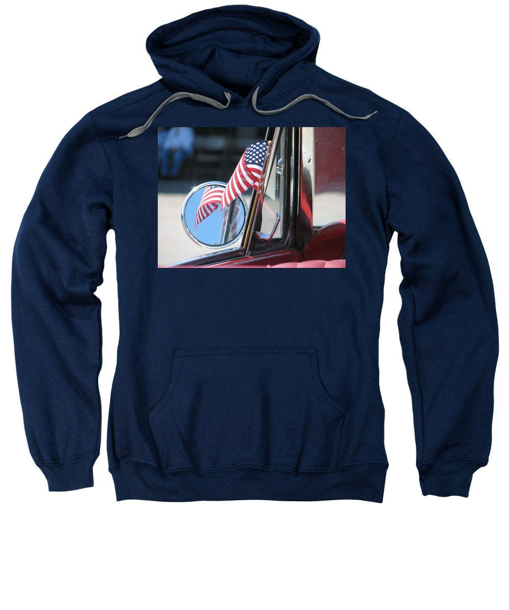 America Sweatshirt featuring the photograph Made In The Usa by Kelly Mezzapelle