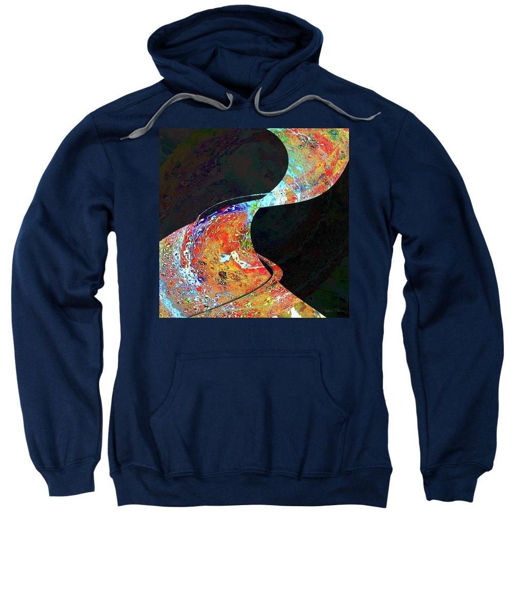 Carpet Sweatshirt featuring the digital art Magic Carpet by Barbara Berney