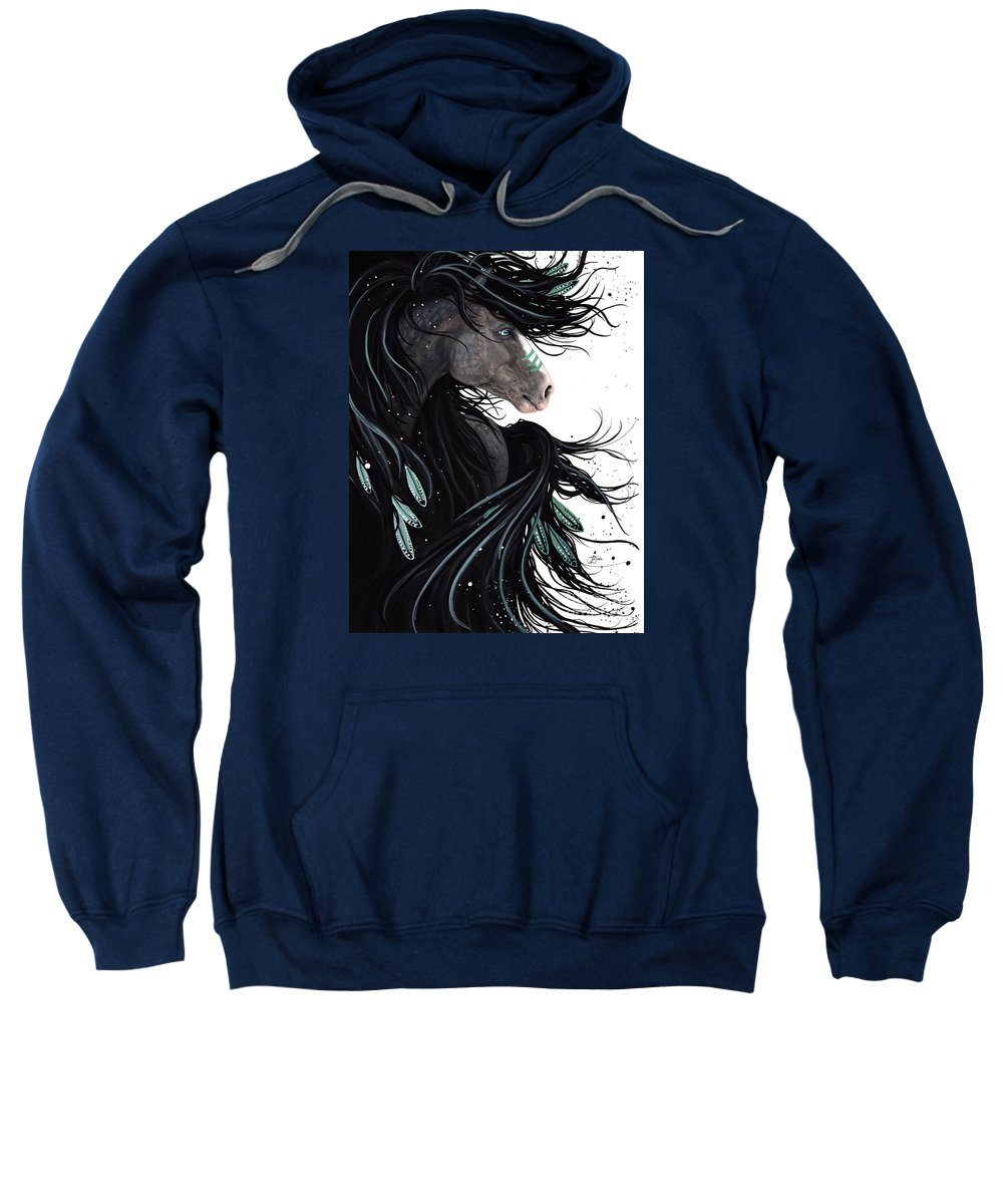 Abstract Sweatshirt featuring the painting Majestic Dreams by AmyLyn Bihrle