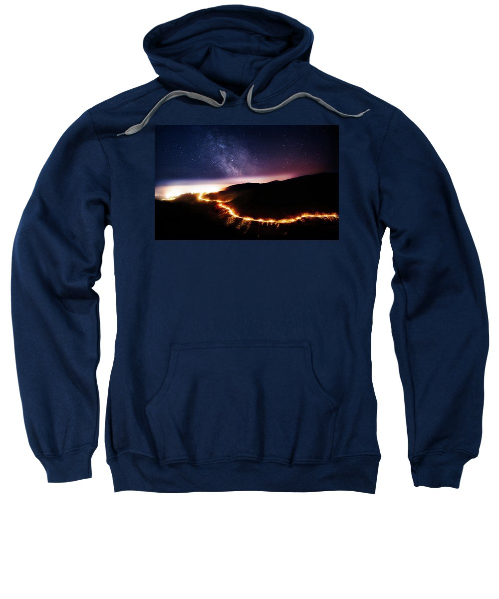 Sweatshirt featuring the photograph Malibu Canyon Ring Of Fire by Charlie Nguyen